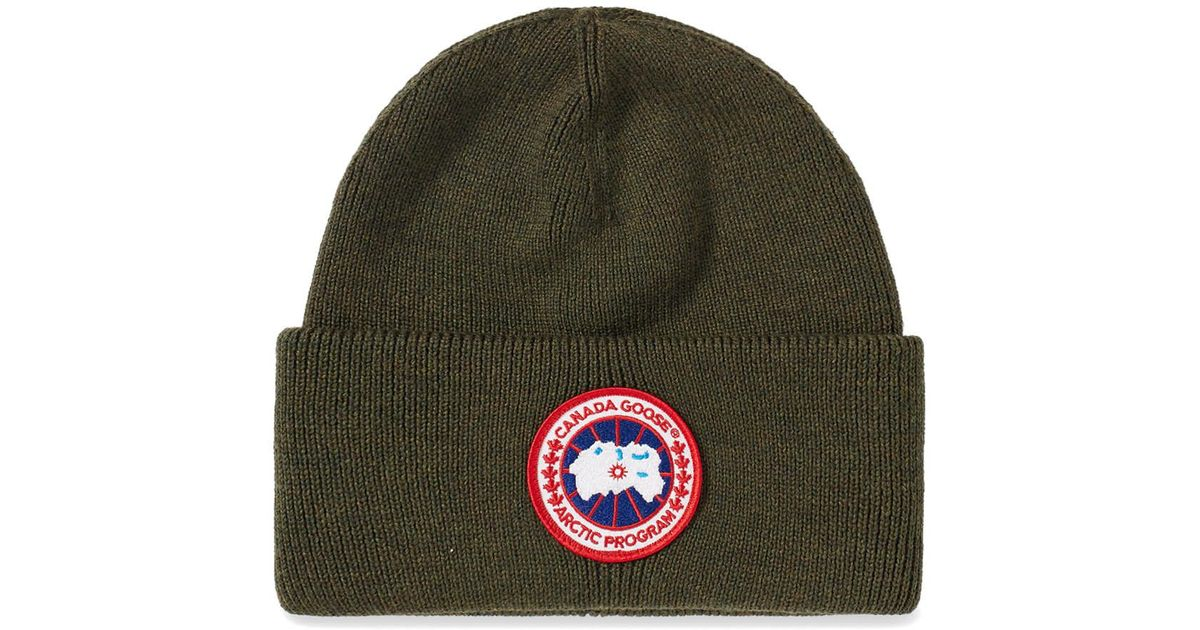 79ef5b6cdd93 Lyst - Canada Goose Arctic Disc Toque Beanie in Green for Men - Save 27%
