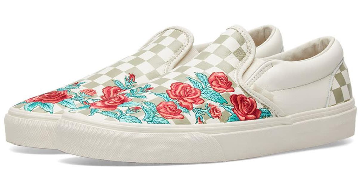 new high shop for official exquisite craftsmanship Vans Multicolor Classic Slip On Dx Rose Embroidery for men