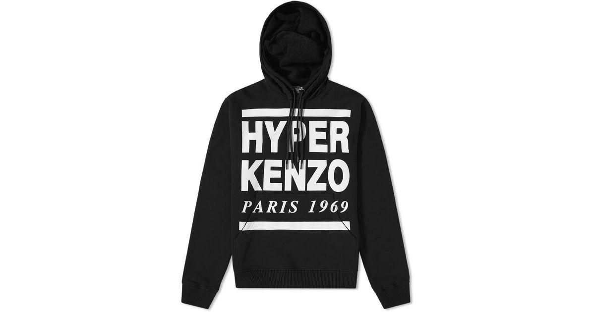 fbcc04104 KENZO Hyper Paris Hoody in Black for Men - Lyst