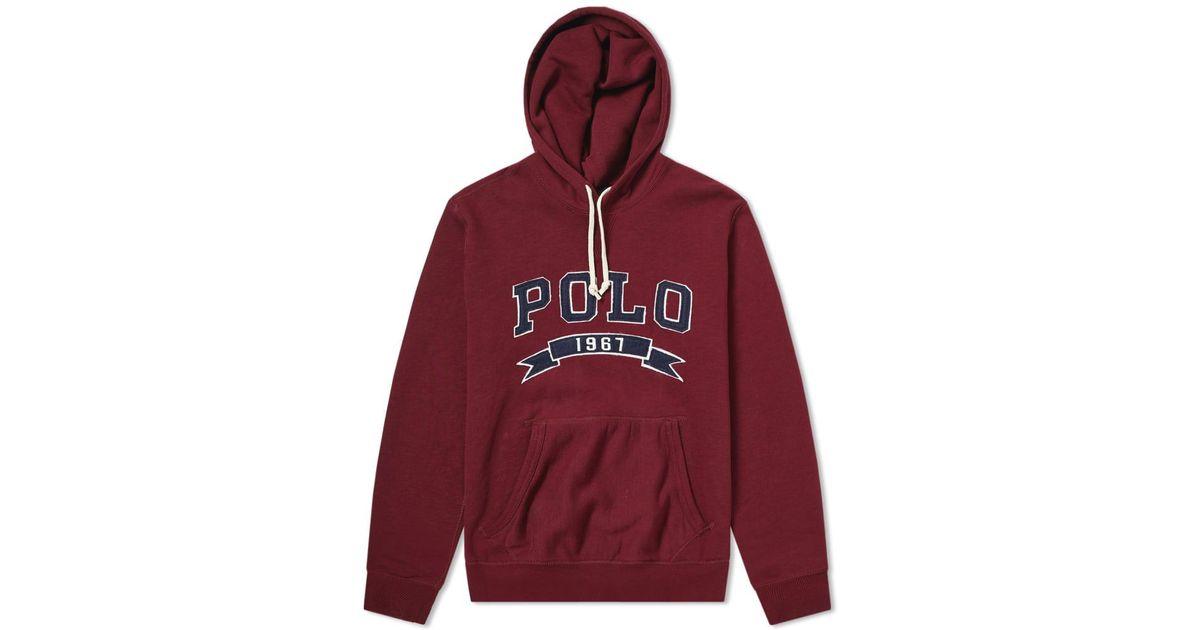 3ee446f11dcb Polo Ralph Lauren Varsity Applique Logo Popover Hoody for Men - Lyst