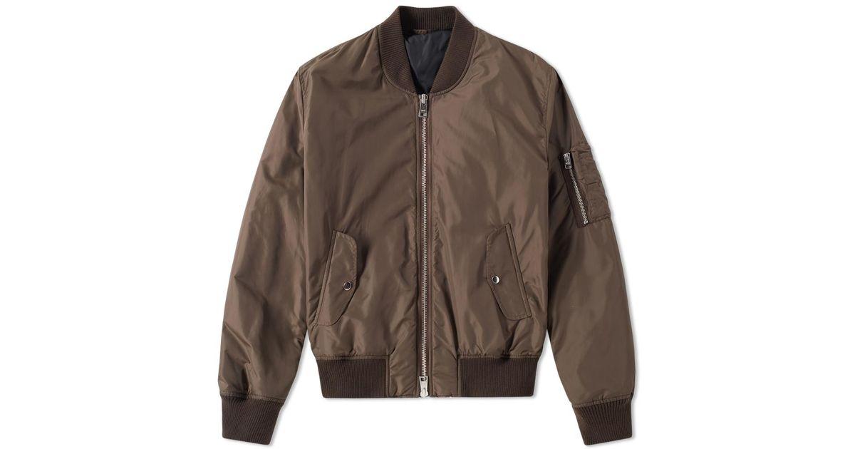 1314a6ecf AMI - Brown Nylon Ma-1 Jacket for Men - Lyst