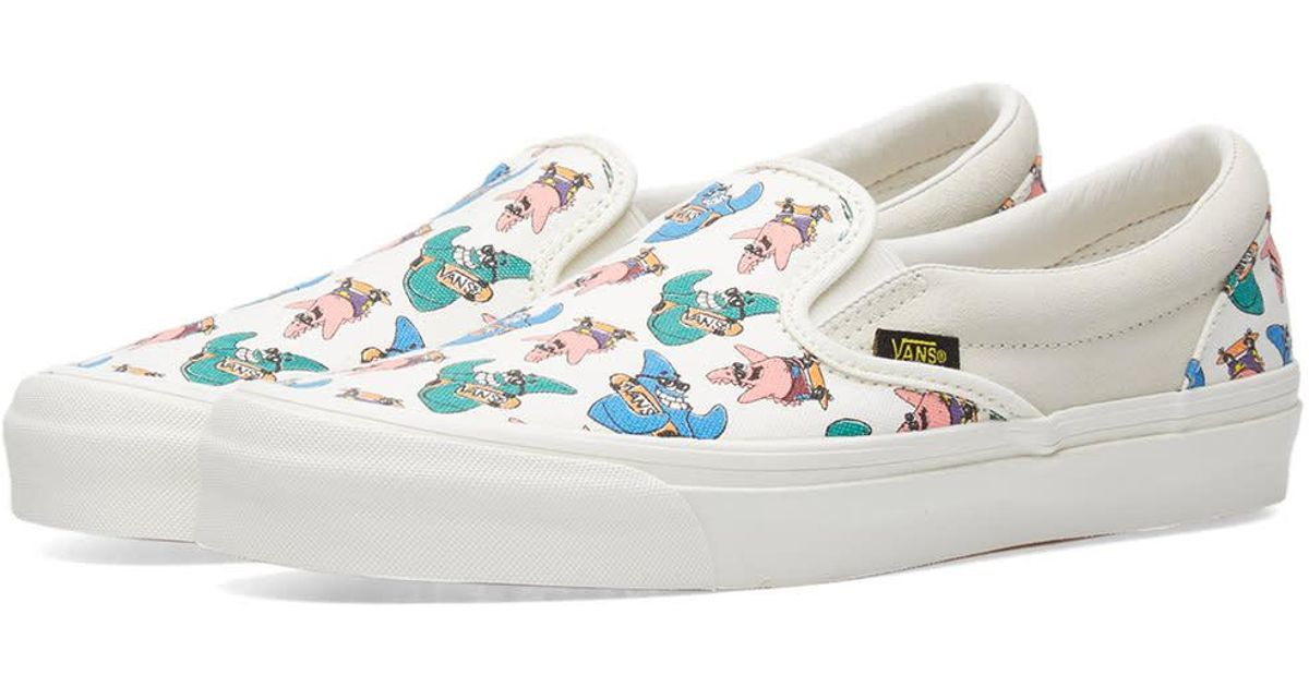 ac0350e692 Vans X Spongebob Og Classic Slip On Lx in White - Lyst