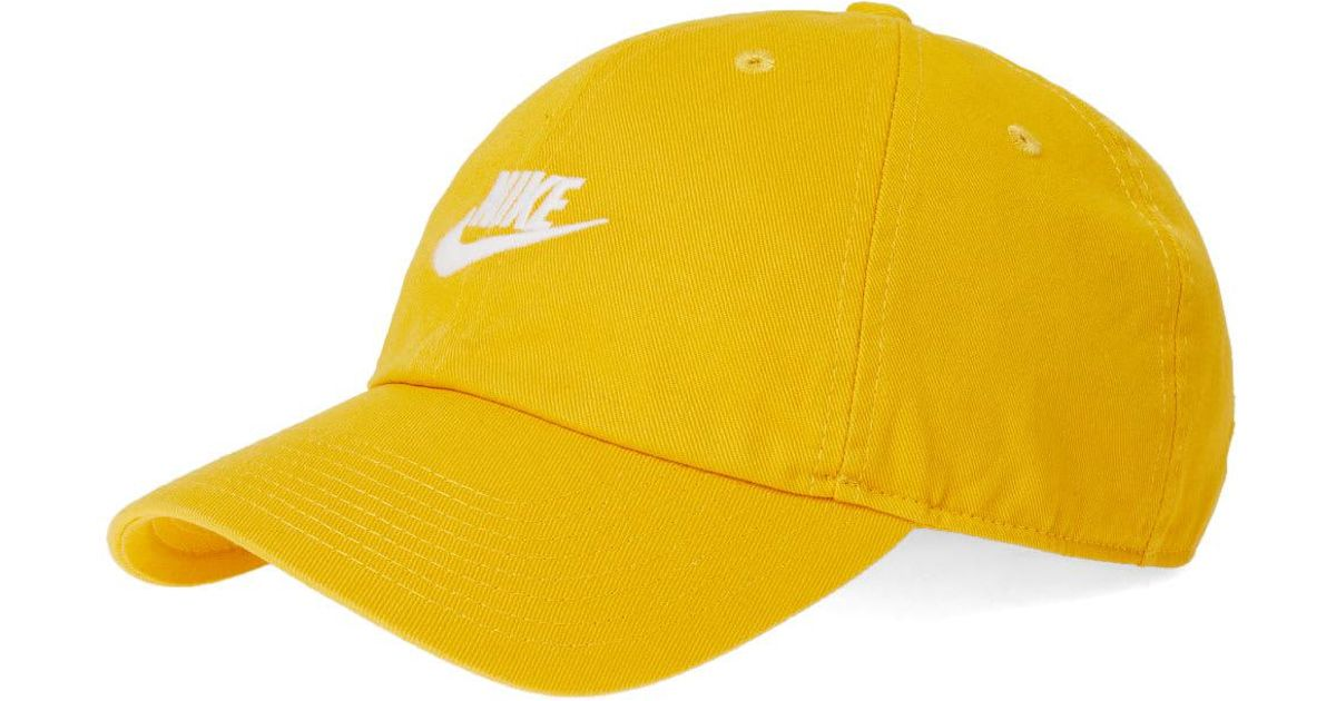 a315433a ... sweden nike sportswear h86 futura washed cap blue force blue force  white baseball caps in yellow