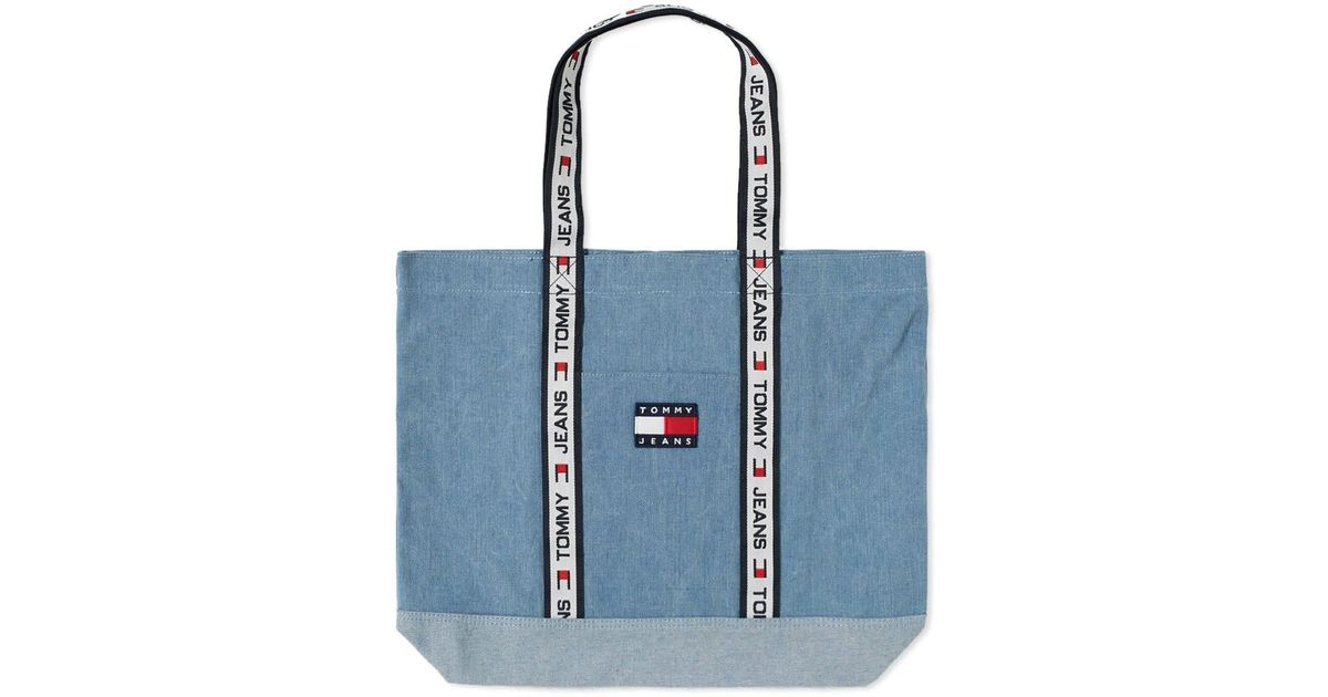 various styles fast delivery newest Tommy Hilfiger Blue 5.0 90s Sailing Tote Bag for men