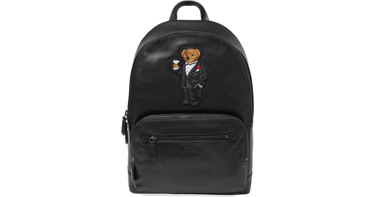 Lyst - Polo Ralph Lauren Holiday Bear Backpack in Black for Men aa7b4989bc49e