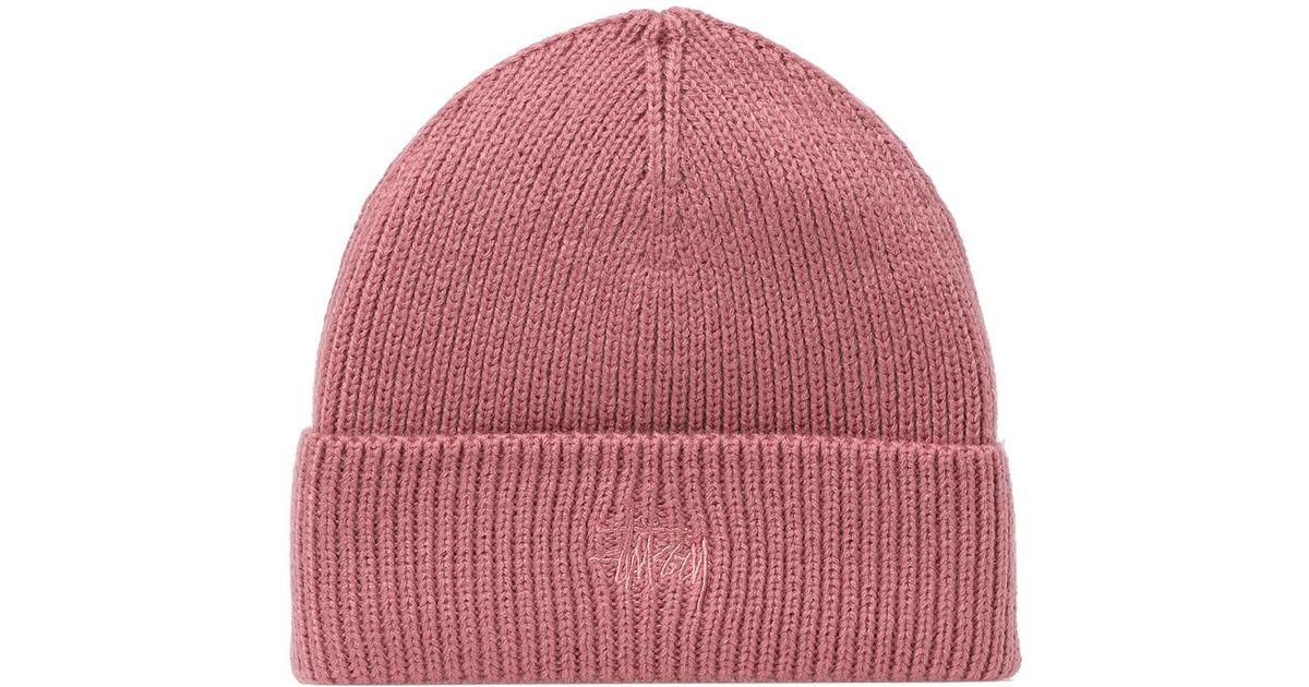 4ce00fb95 Stussy Pink Basic Tonal Cuff Beanie