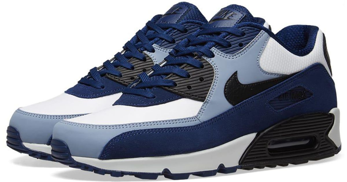 the best attitude 21b12 38744 Lyst - Nike Air Max 90 Leather Trainers Blue in Blue for Men