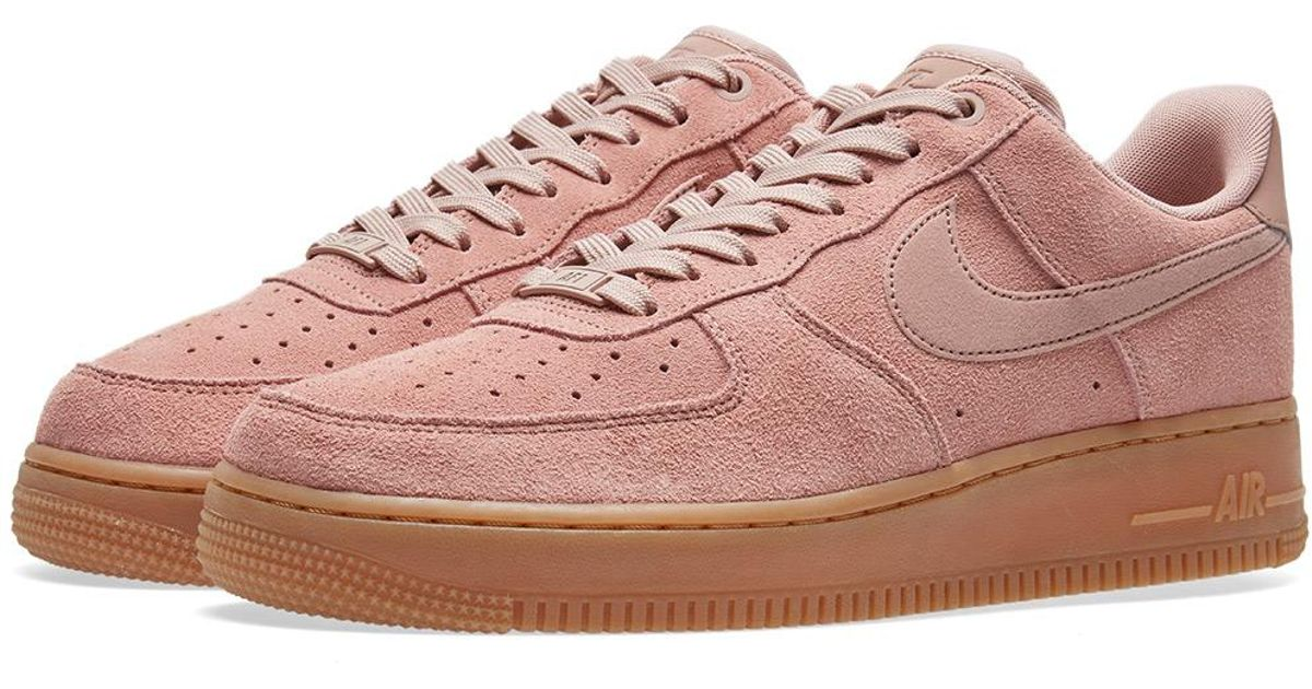 4569dff5ac22ef Nike Air Force 1  07 Lv8 Suede in Pink for Men - Lyst