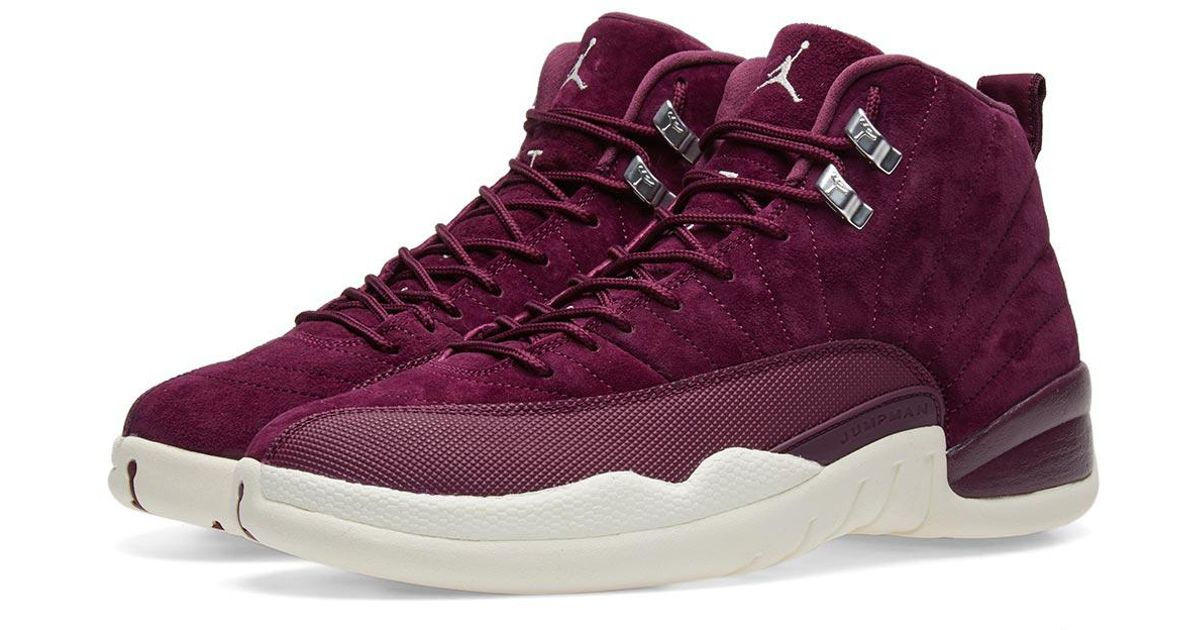 20be8d0bd61c Lyst - Nike Nike Air Jordan 12 Retro  bordeaux Winter  in Purple for Men