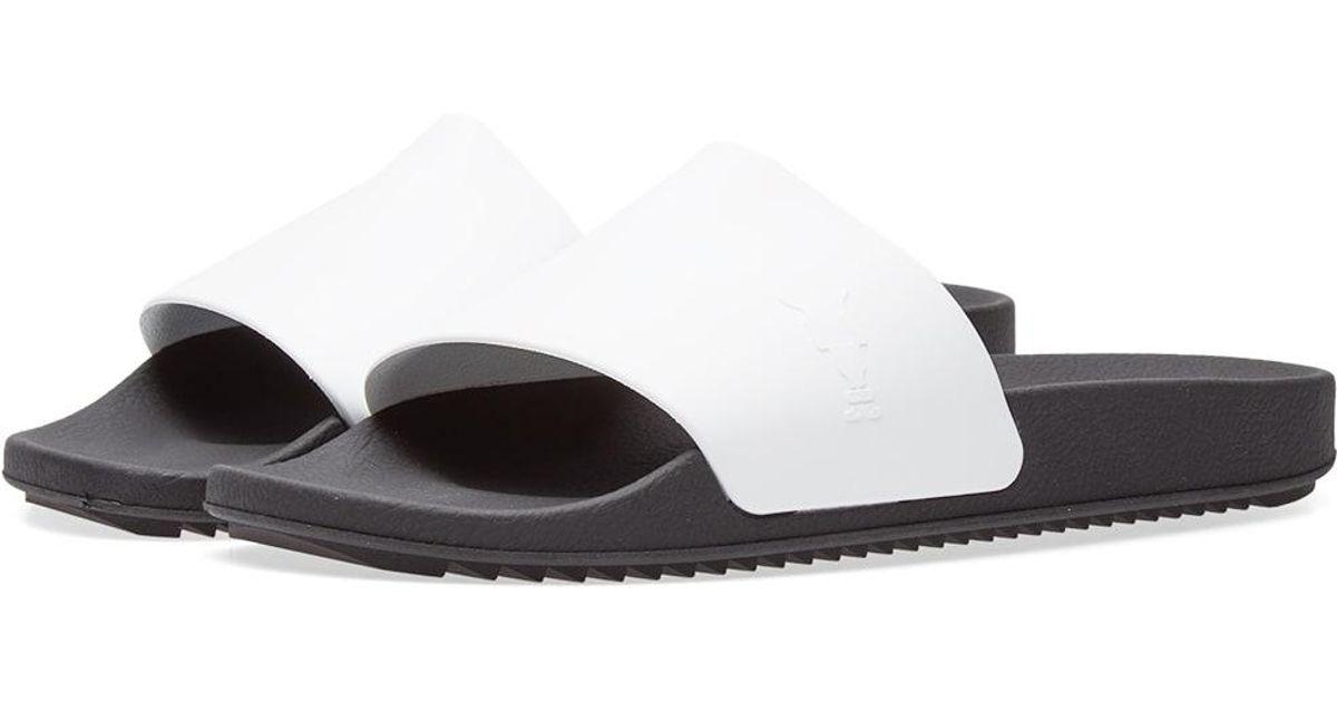 0c54345e1f1ece fshow c9b43 22674  shopping Rick Owens Drkshdw Hustler Slide in White for  Men - Lyst e2dd7 28018 ...