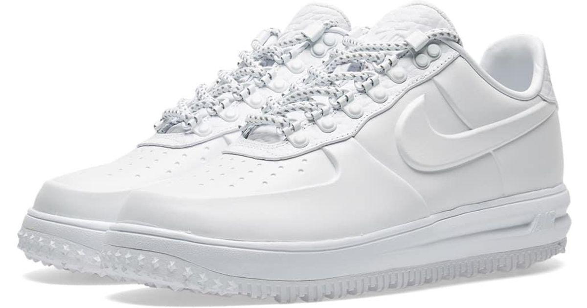 82c974b29f3 Nike White Lunar Force 1 Duckboot Low Ibex