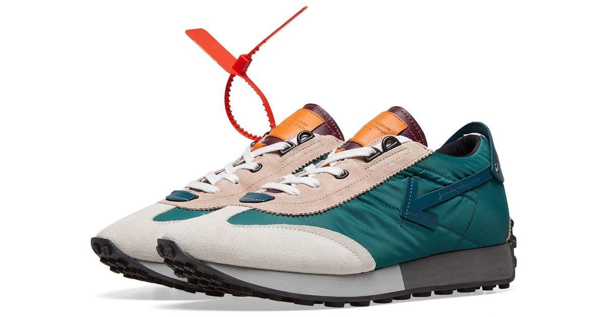 Leather Vintage Arrow Running Sneaker