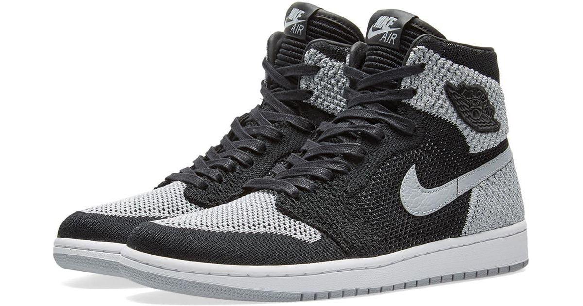 promo code b3ee7 b4ae4 Lyst - Nike Air Jordan 1 Retro High Flyknit in Black for Men