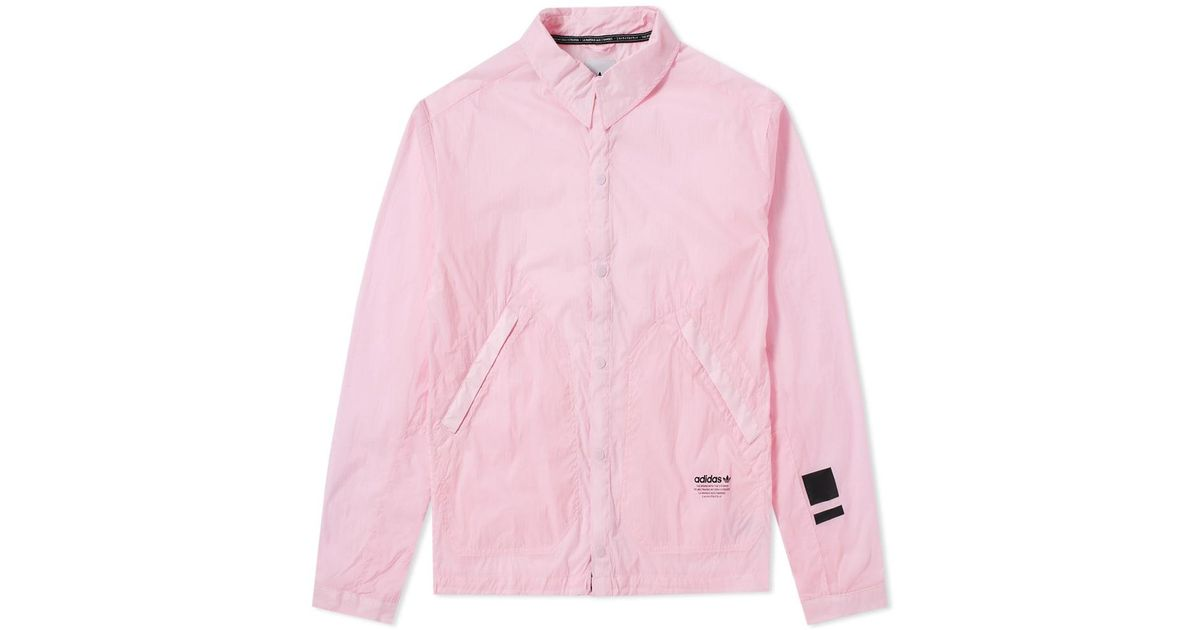 Adidas Pink Nmd Coach Jacket for men