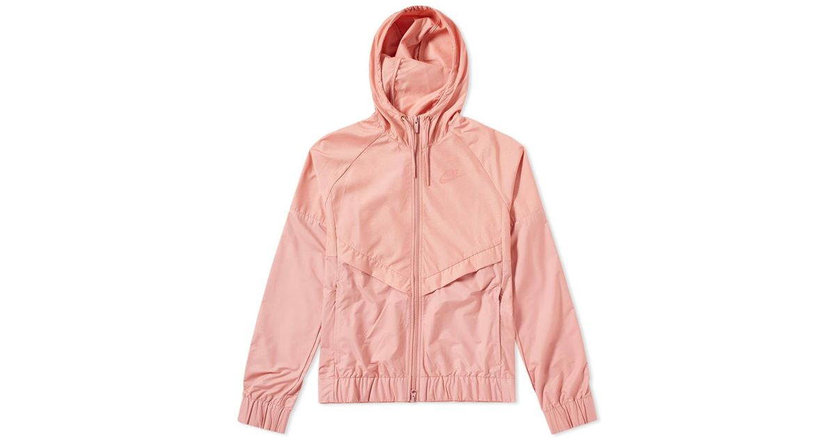 a34c8a79903 Nike Windrunner Chambray Jacket W in Pink - Lyst