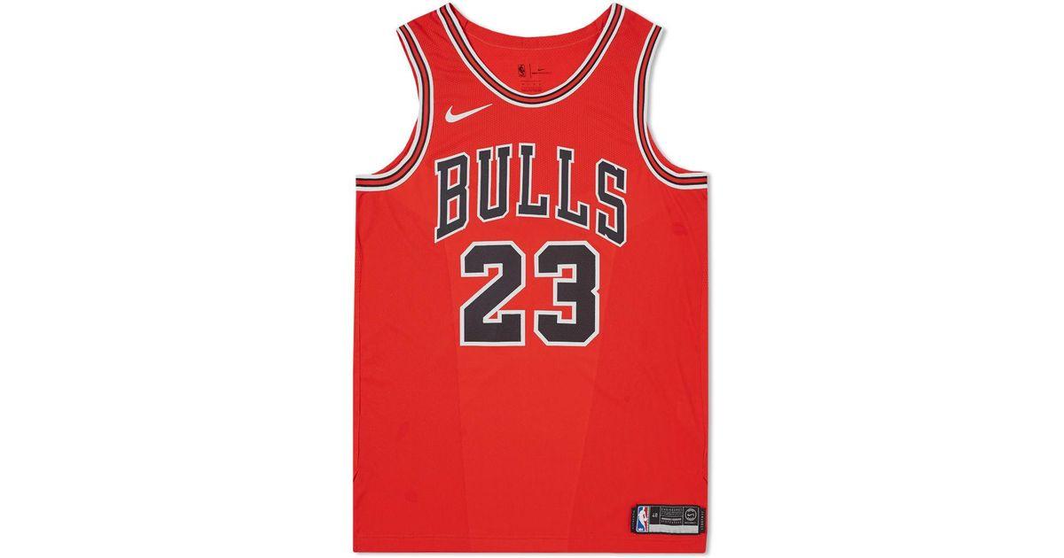 sale retailer d8680 c9615 Nike Red Michael Jordan Icon Edition Authentic Jersey for men