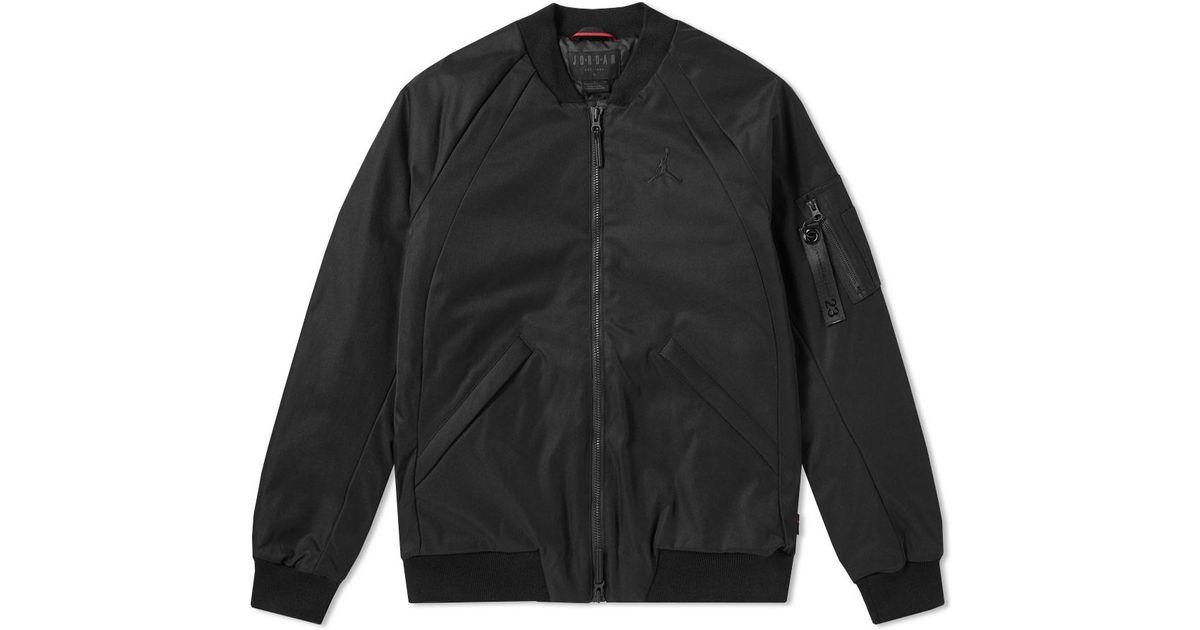 e19bb93fb69a Lyst - Nike Jordan Wings Ma-1 Jacket in Black for Men