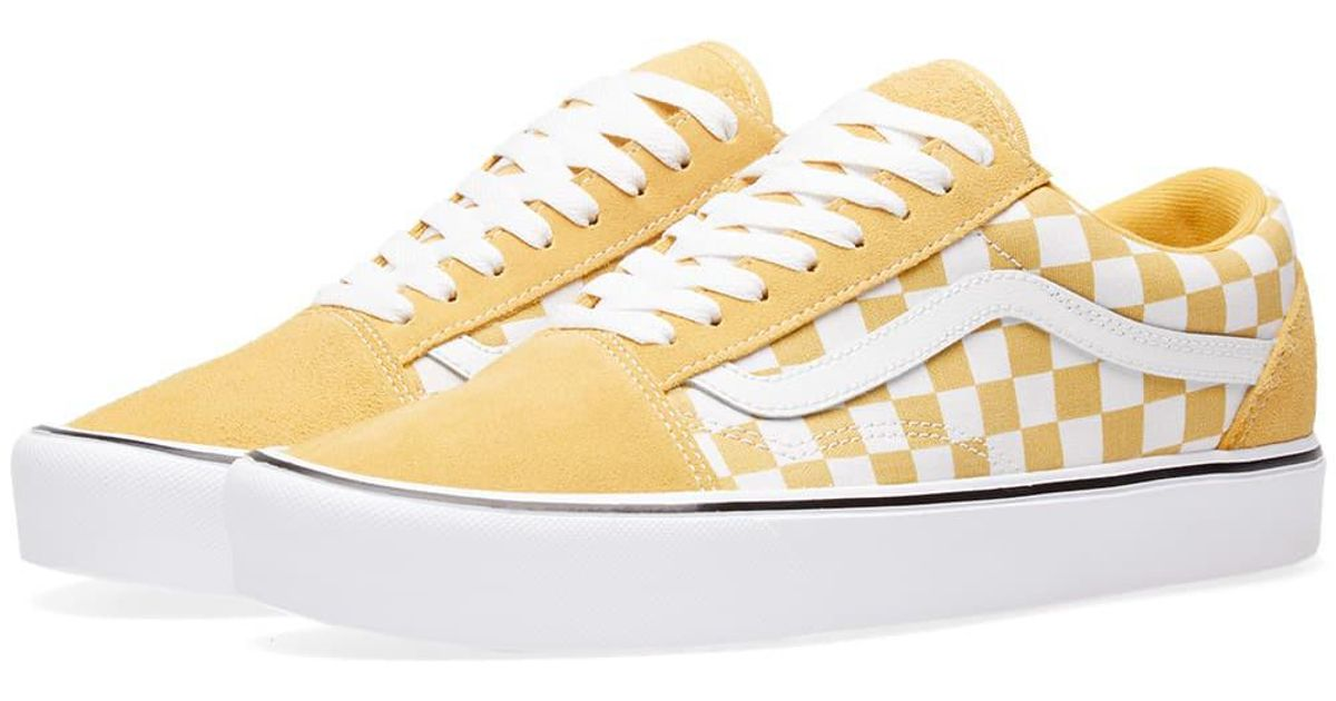 a835845ad17544 Lyst - Vans Old Skool Lite Checkerboard in Yellow for Men
