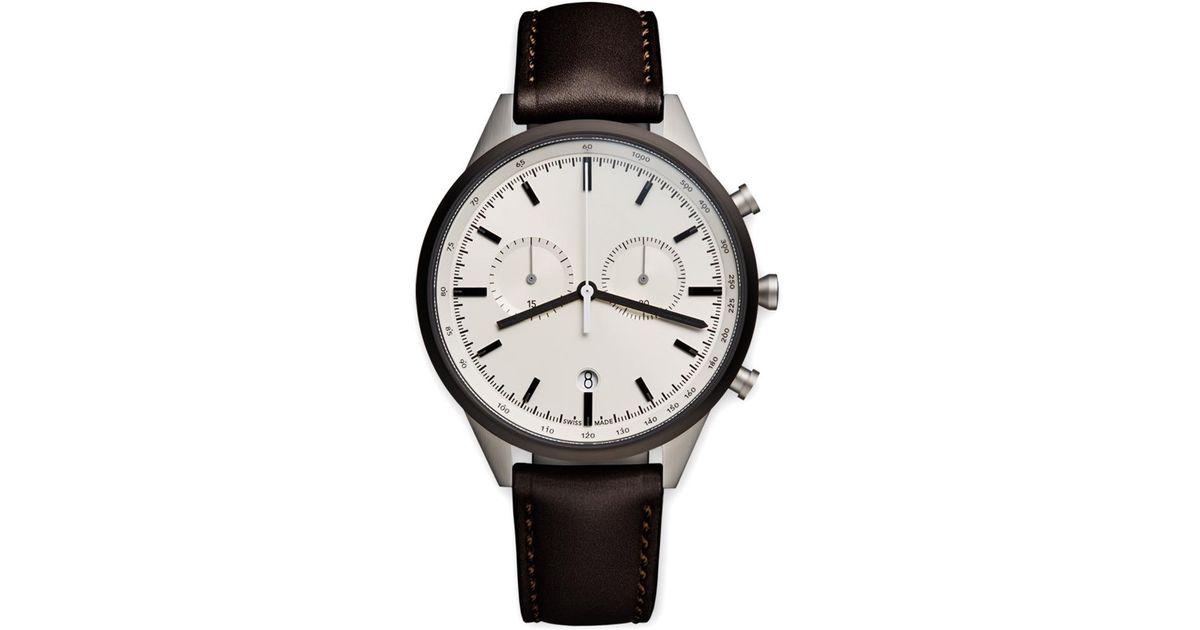 d38e703f8 Uniform Wares C41 Chronograph Wristwatch in Brown for Men - Lyst