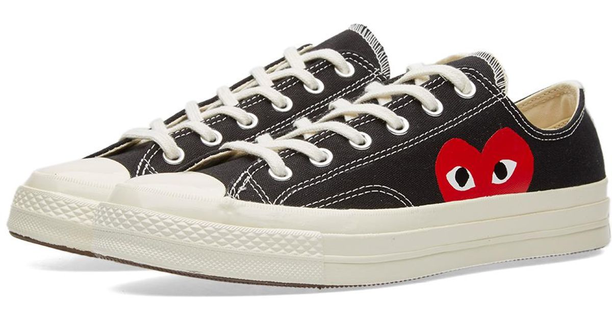 53032101ac9e COMME DES GARÇONS PLAY Play Converse Low In Black in Black - Save 44% - Lyst