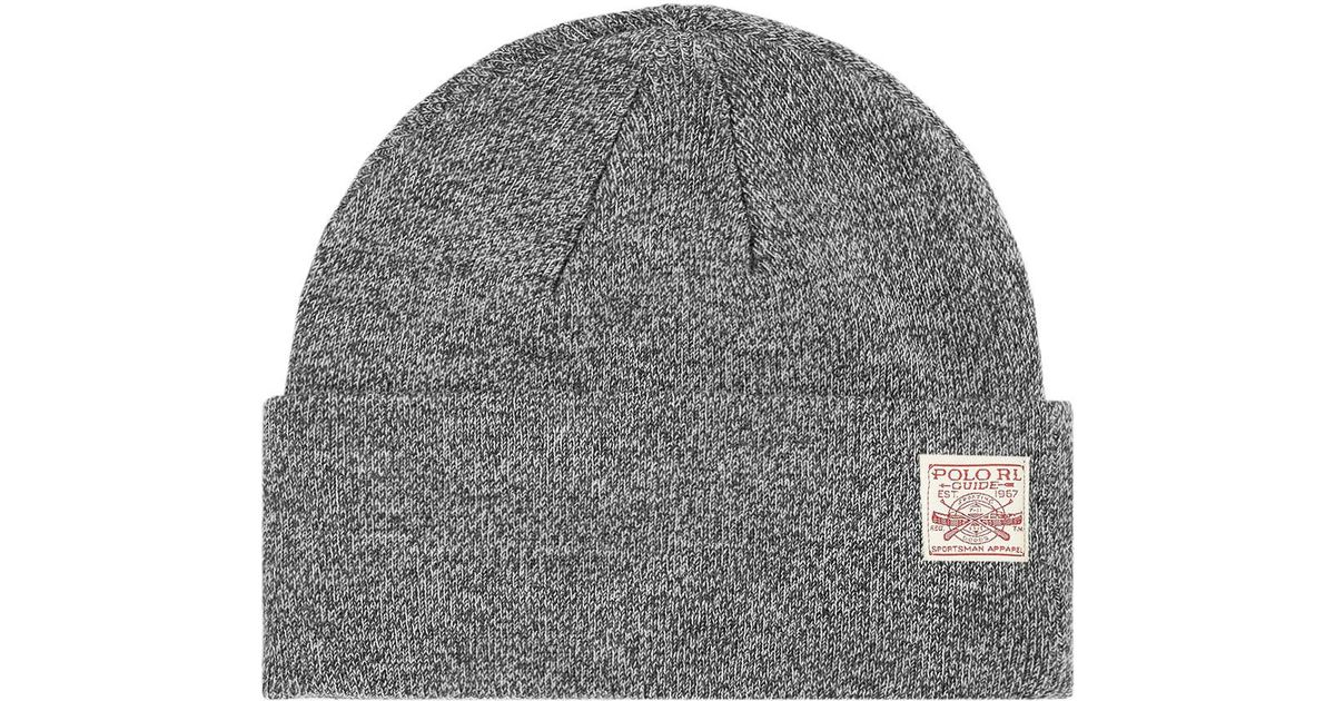 94cf23fabe42c Lyst - Polo Ralph Lauren Patch Logo Watch Cap in Gray for Men