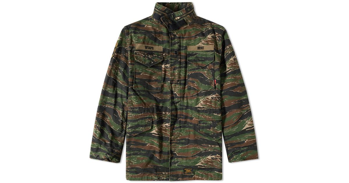 e8f795260fc5d WTAPS M-65 Jacket in Green for Men - Lyst