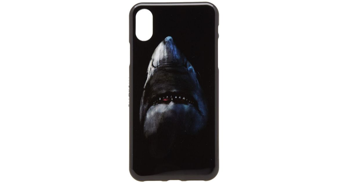 competitive price f7b13 7eb7f Givenchy Black Shark Print Iphone X Case