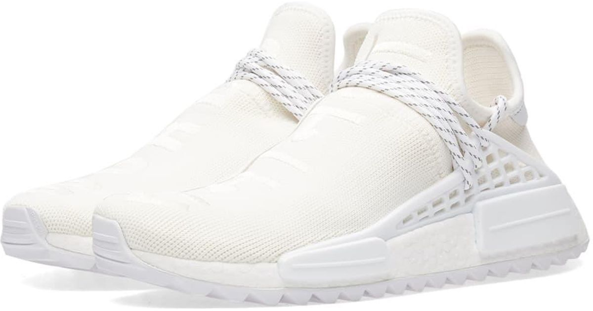 sale retailer 683b7 376e4 Adidas White X Pharrell Williams Hu Nmd 'blank Canvas' for men