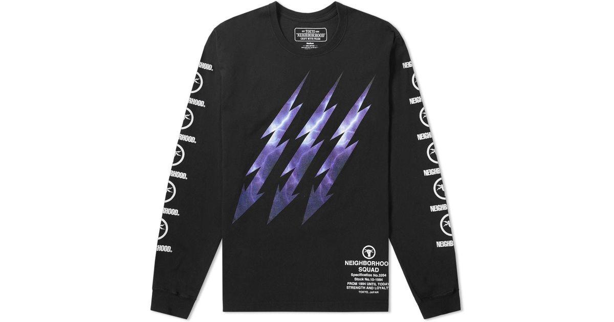 ef2c834b Neighborhood Lightning Long Sleeves T-shirt in Black for Men - Lyst