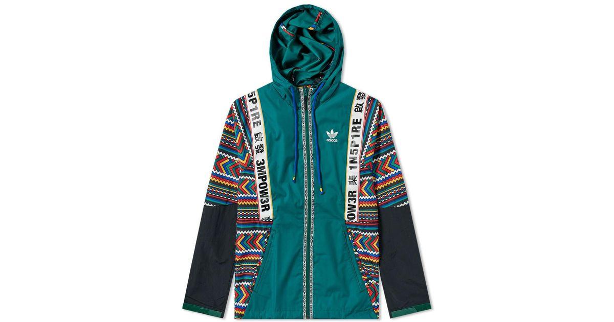 quality best value united kingdom Adidas Green By Pharrell Williams Solarhu Shell Jacket for men