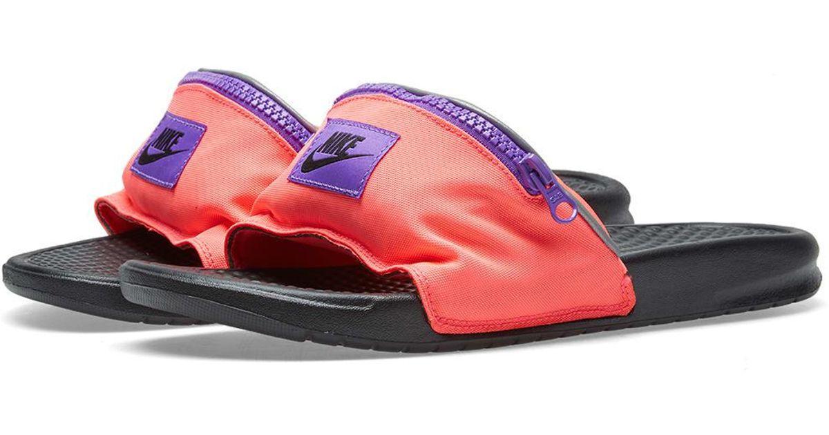 6b33677ed9f00e Nike Benassi Jdi Fanny Pack in Pink for Men - Lyst