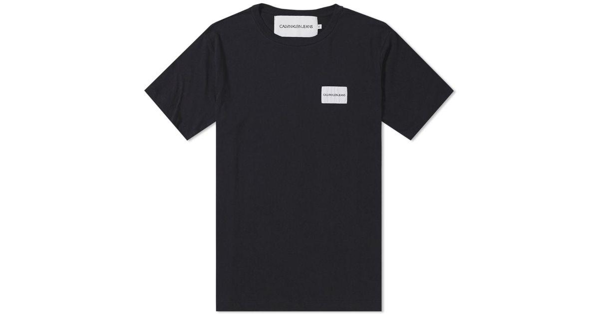 483c87f64 Calvin Klein Chest Box Logo Tee in Black for Men - Lyst