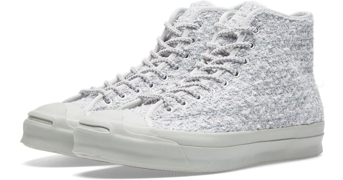 5fa46f1d944a Lyst - Converse Jack Purcell Signature Mid  bunney  in Gray