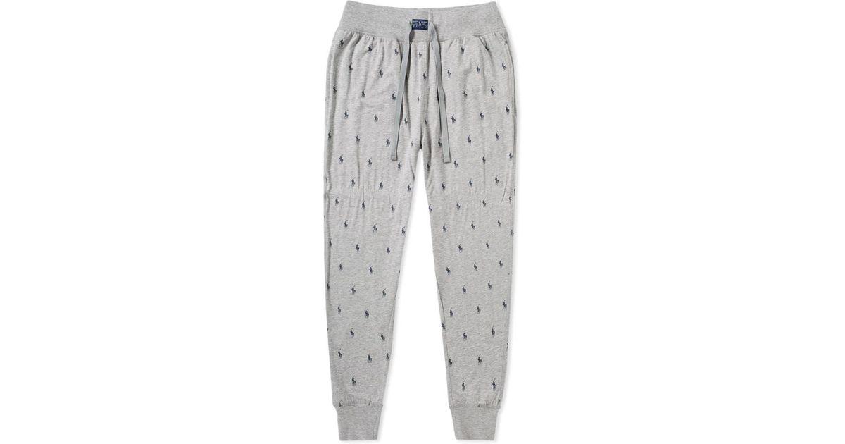 Pant Polo Sleepwear Lyst Lauren For Ralph Gray Men Sweat rCBoWdex