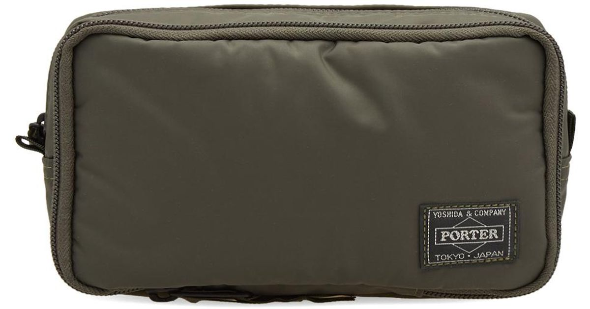 3d2964482a Lyst Head Porter Olive Drab Grooming Pouch In Green For Men