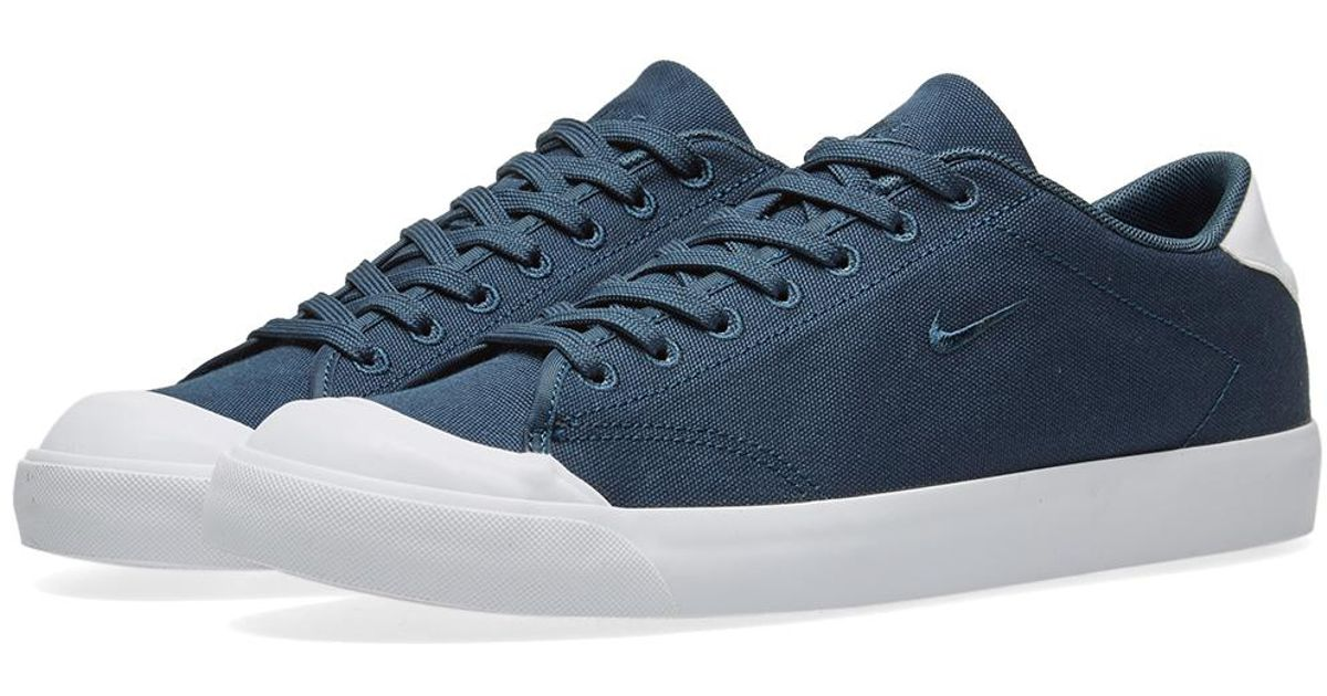 Nike All Court 2 Low Canvas in Blue for