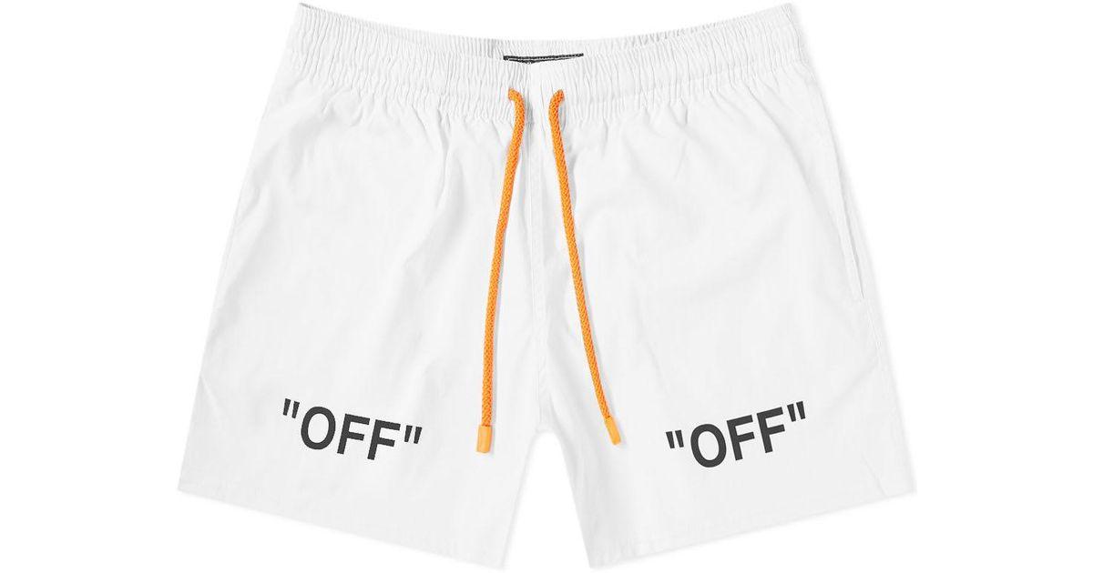 dd154023df Off-White c/o Virgil Abloh X Vilebrequin Arrows Moorise Swim Short in White  for Men - Lyst