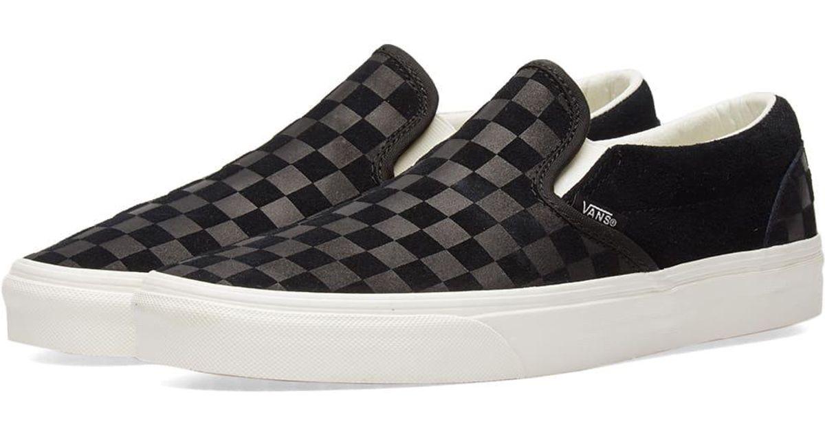 Vans Suede Classic Slip On Checkerboard