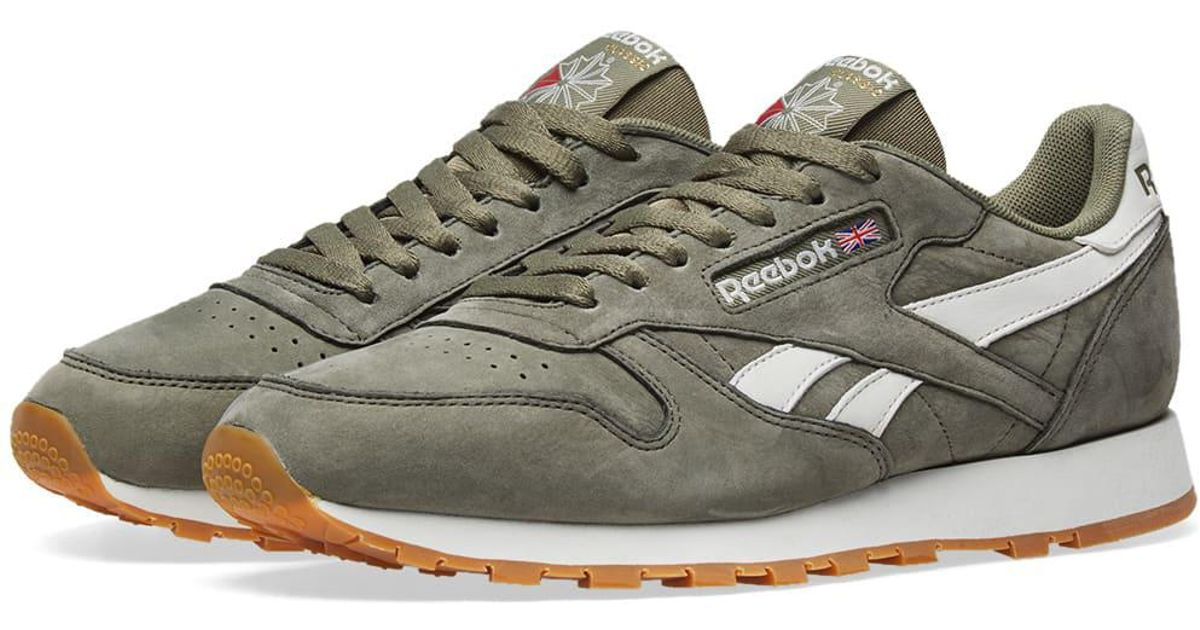 faf02e501d99a8 Reebok Classic Leather Tl in Green for Men - Lyst