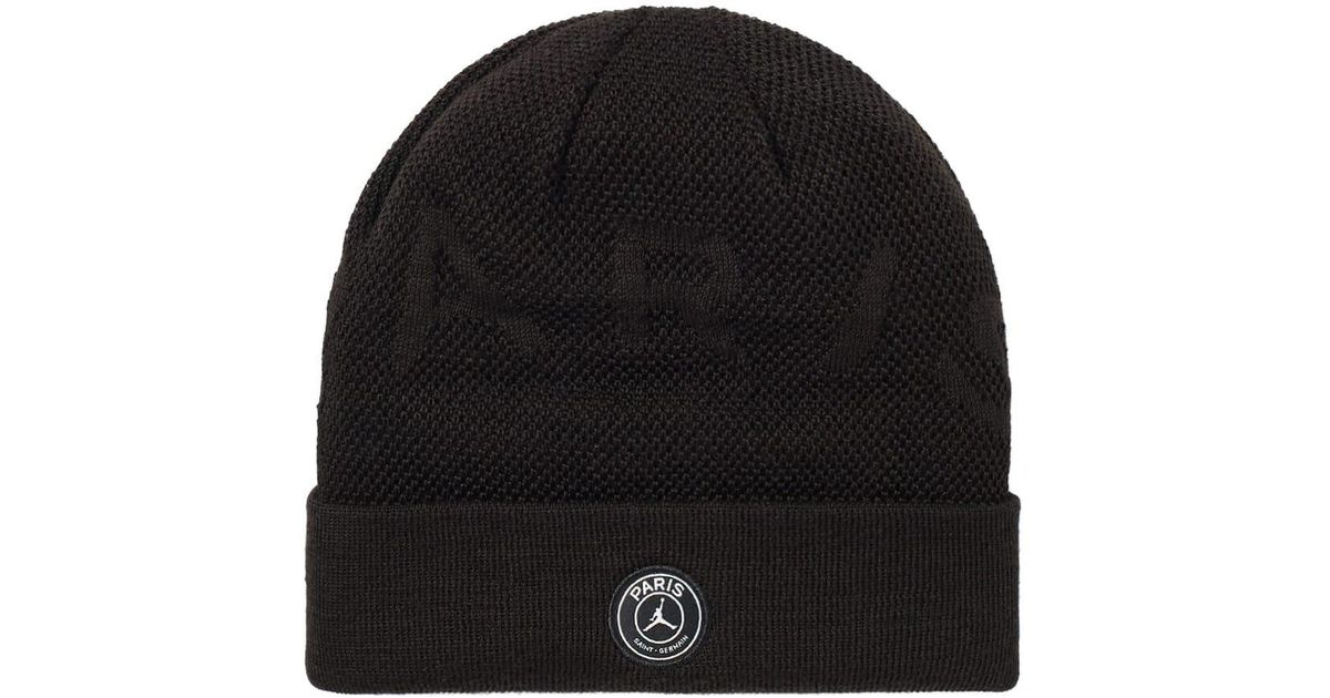 Nike Wool Jordan X Paris Saint Germain Beanie In Black For Men Lyst