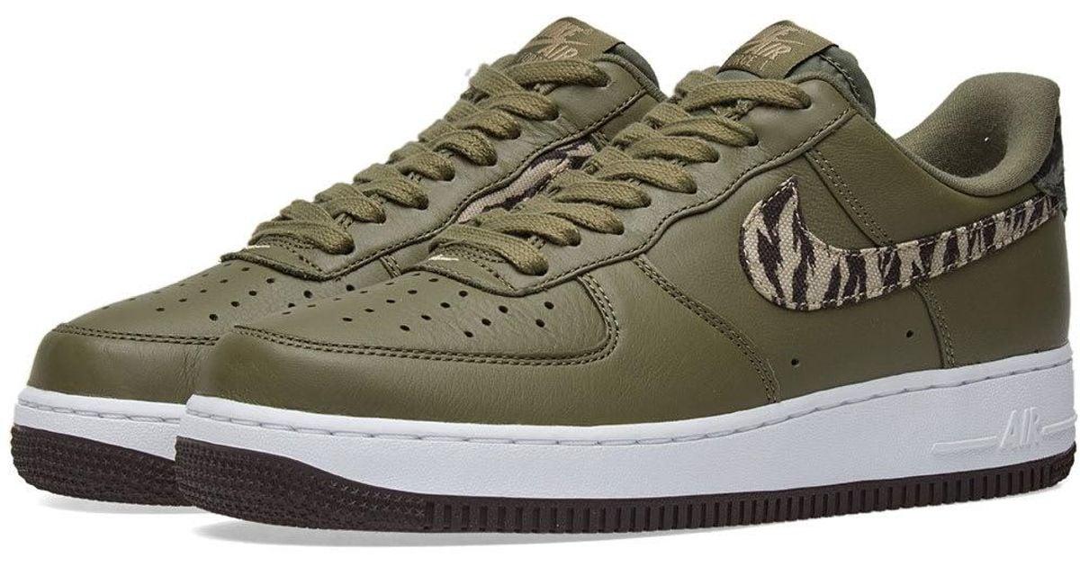 green nike air force 1