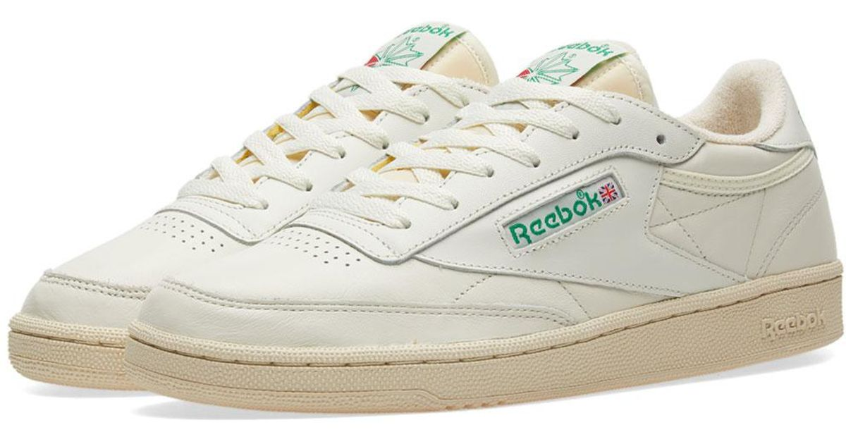 speical offer buying now most popular Reebok White Club C 85 Vintage W for men