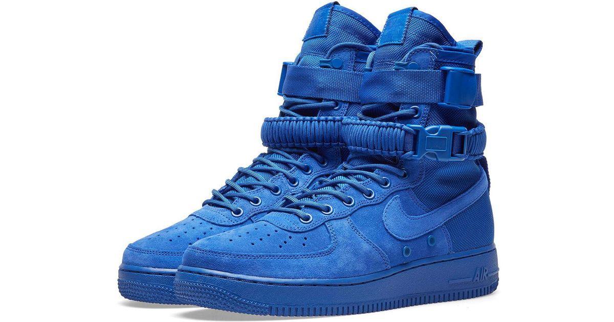 promo code aafc3 6a1ba Nike Blue Sf Air Force 1 Hi Boot