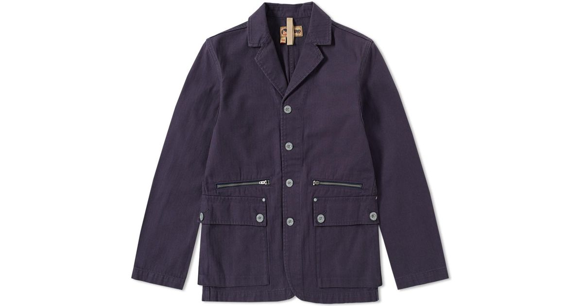 68ec27bb9ea2 Nigel Cabourn X Lybro Mountain Division Sherpa Jacket in Blue for Men - Lyst