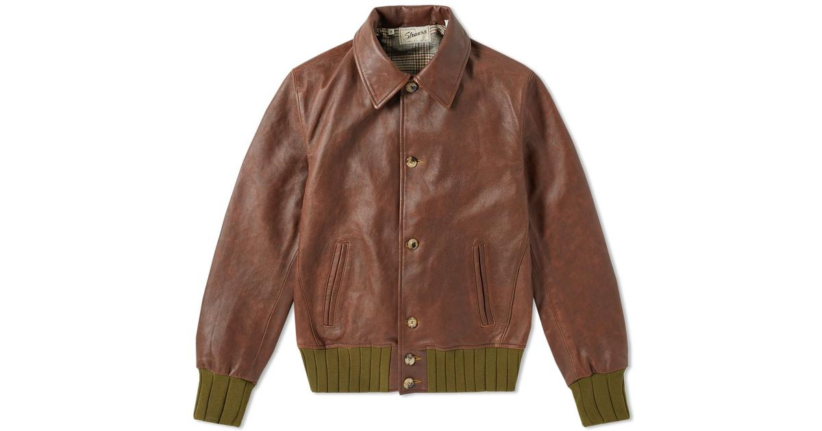 89174c8e3 Levi's Brown Levi's Vintage Clothing Strauss Leather Jacket for men