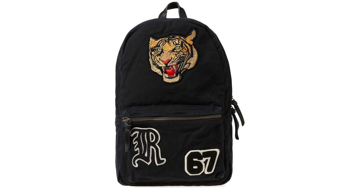 39e435877 Polo Ralph Lauren Tiger Embroidered Backpack in Black for Men - Lyst