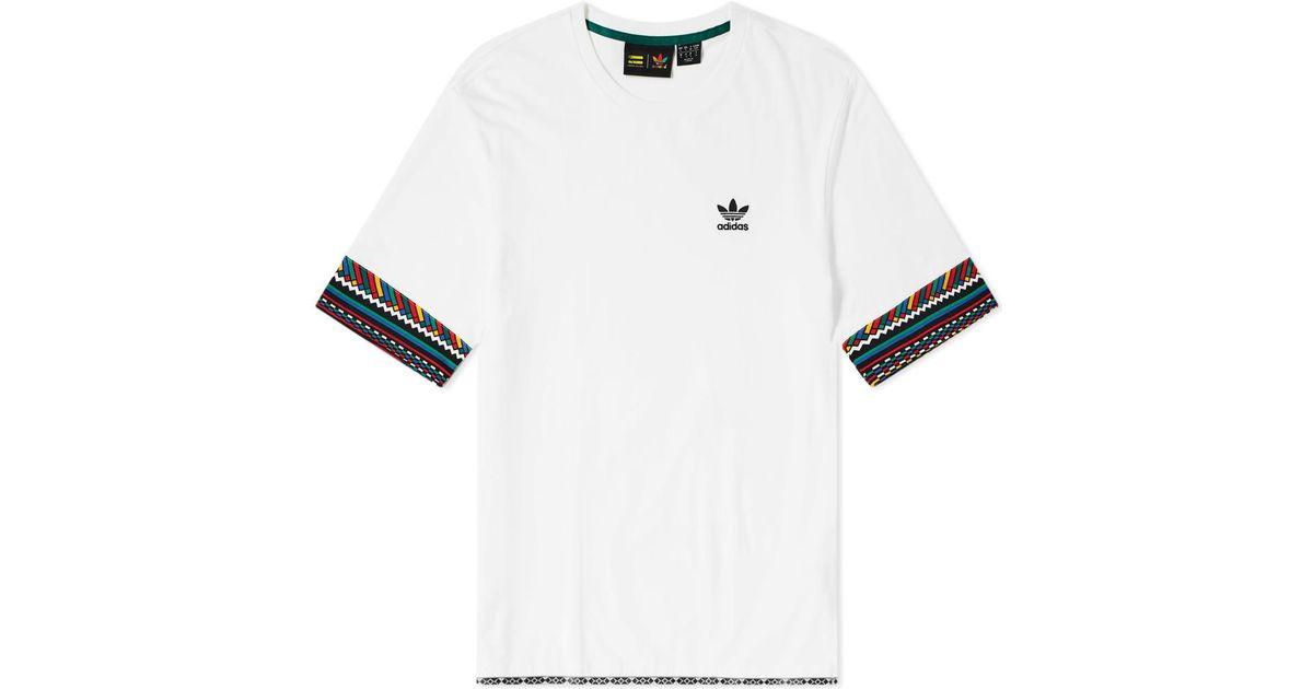 7e380ba0d8059 Lyst - adidas By Pharrell Williams Solarhu Trefoil Tee in White for Men
