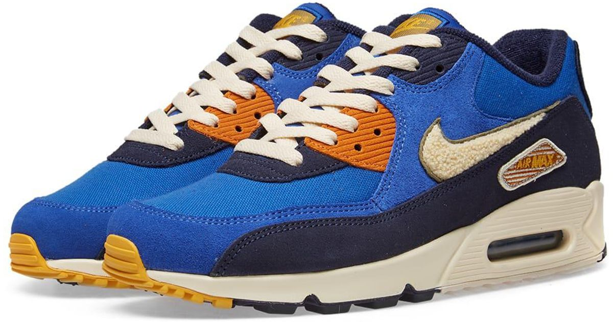new images of delicate colors new arrival Nike Blue Air Max 90 Premium Se for men