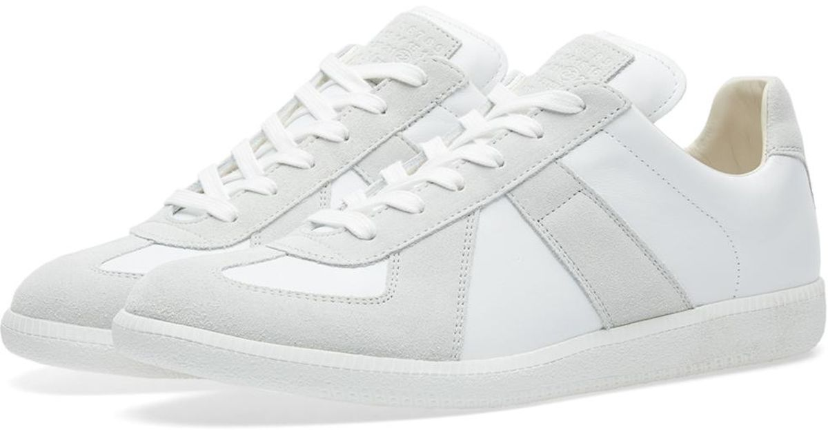 2e8ea1364e3 Maison Margiela White 22 Replica Low Tonal Sneaker