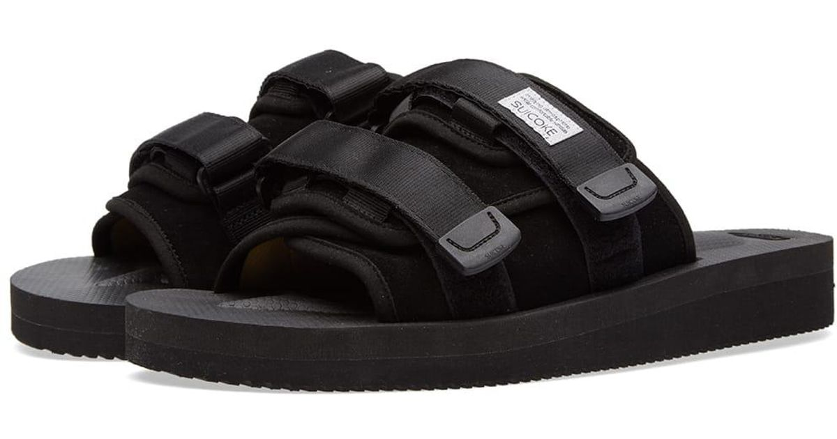 8ff4a12ae98 Lyst - Suicoke Moto Cab Two Strap Slides in Black for Men - Save 33%